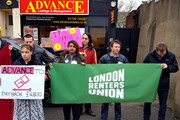 London Renters Union protesters