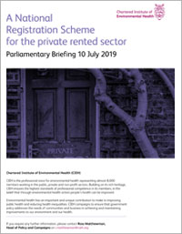 A National Registration Scheme for the Private Rented Sector - Parliamentary Briefing