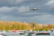 An aeroplane coming in to land at Heathrow airport