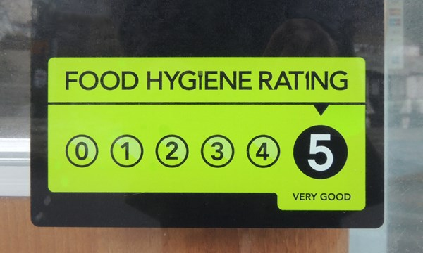 Derby gives top scoring food businesses a high five