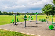 An empty outdoor gym