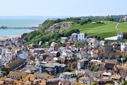 Aerial view over Hastings